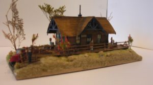 Lynhurst Station built from a Laser-Art kit with scratch built platform. By Gary Whistleman