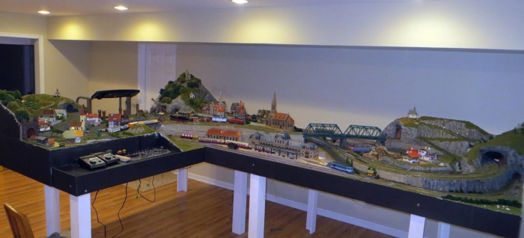 An overall view of the nearly completed layout.