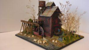 Black Bear Mill built from Laser-Art Wiener's Mill kit with scratch built race.